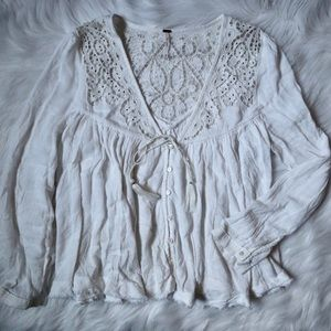 Free People Beaded Blouse